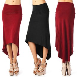 Sexy Ladies Black Red Midi Pencil Skirt Slim-Fit High Waist Dovetail Skirts Women Club Party Bandage Skirt MDF0293