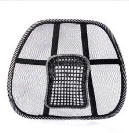 Coussin de voiture voiture été viscose dos soutien lombaire oreiller pad coussin de dossier Chaise de bureau Massage Retour soutien lombaire 50083 à partir de oreillers de soutien lombaire fournisseurs