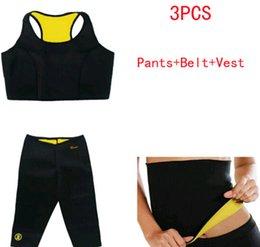 Wholesale 2015 Women Neoprene Body Shaper Set Slim Waist Pants Belt Yoga Vest Shapers