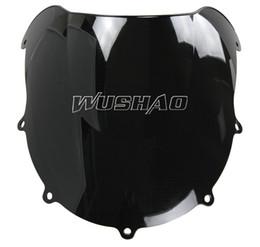 Motorcycle Double Bubble Windshield WindScreen For 1996-1999 Suzuki GSXR600 GSXR750 GSXR 600 750 1997 1998 96 97 98 99 Black