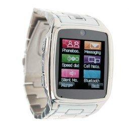 Wholesale TW810 Watches Style Cell Phone IPS Screen Bluetooth Java Camera Silver
