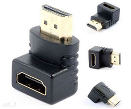 HDMI 1.4 Angled Type HDMI to HDMI Male to Female 90 270 Degree Rotating Adapter Connector
