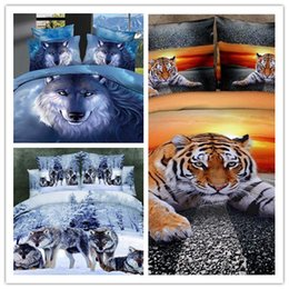 Wholesale Comfortable D Printed Bedding Sets With Styles Pure Cotton Bedding Supplies Animal Picture Bed Set