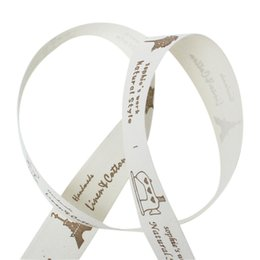 Wholesale Cotton Fabric Sewing Ribbon Labels Handmade DIY Craft Off white Brown Tree Girl Bicycle Sewing Machine mm M new