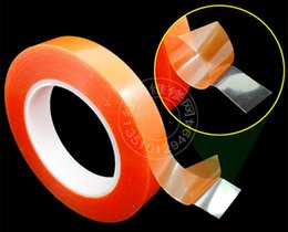 2mm*25M Strong Acrylic Adhesive Red Film Clear Double Sided Tape No Trace for Phone LCD Screen
