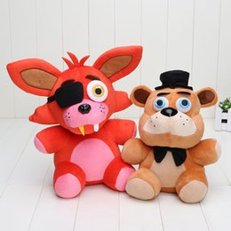 Five Nights at Freddy FNAF Bear Foxy Bonnie Chica Plush Toys 4 Styles 25-30cm Stuffed Dolls Toys