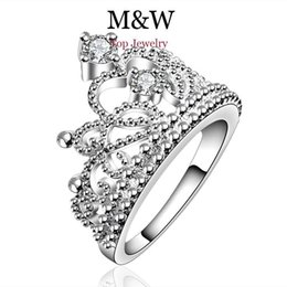New Arrival Fashion Jewelry AAA Top Grade Cubic Zirconia Diamond 925 Silver Crown Ring For Women Girl Party Gift SL060