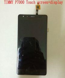 Promotion quad lcd Gros-En stock écran tactile d'origine + Ecran LCD pour Timmy P7000 plus MTK6732 Android 4.4 Quad Core 5,5 pouces tactile expédition de panneau-gratuit