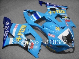 Motorcycle fairing kit for SUZUKI GSXR 1000 03 04 GSXR1000 GSX-R1000 K3 2003 2004 Fashion RIZLA blue ABS disguise