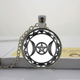 Triple Moon Goddess Pendant Triple Moon Goddess Necklace Triple Moon Goddess Jewelry Glass Picture Pendant P-20