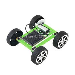 1Pcs Children Educational Puzzle IQ Gadget Mini Solar Toy DIY Car Hobby Robot Hot