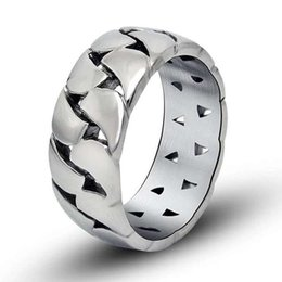 316 stainless steel biker vintage simple ring for man