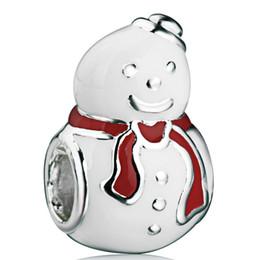 Wholesale Venta al por mayor caliente feliz muñeco de nieve con encanto europeo apto de la serpiente del grano del encanto pulsera de cadena de las mujeres de bricolaje joyería