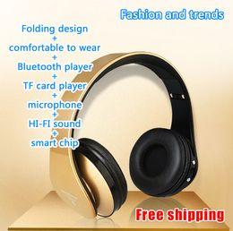 Headphone Headphones Electronic Earphones Bluetooth Foldable Wireless Stereo Headset TF Card Microphone Noise Canceling High Fidelity EB203