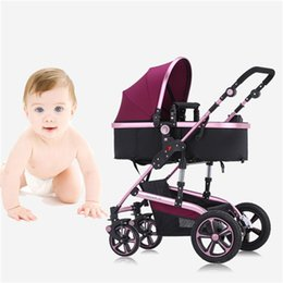 Wholesale Baby Stroller Newborn Infant Carriage Strollers Fashion Pushchair Lightweight Portable Pram for Baby Months Flat to Sleep