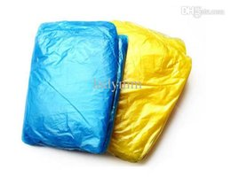 PE Disposable Raincoats Poncho Rainwear Fashional Travel Rain Coat Rain Wear gifts mixed colors
