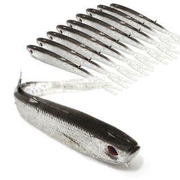 Poissons de silicone pour la pêche à vendre-Nouvelle vente chaude arrivée 10pcs / Set 10cm silicone souple Tiddler Bait Fluke poisson Pêche Poisson de Lure