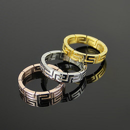 Brand men steel Ring 18K Rose Gold High Quality Stainless Steel 316L Wedding Party Zircon Fashion ring Accessories For Women