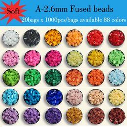 Wholesale 20 bags x bag A mm ARTKAL soft fused beads kids educational toys beading kits hama perler beads P1001 AB1000x20