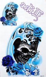 Wholesale Tattoo paper waterproof hn325 personality skull belt