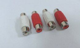 RCA Female to Female Adapter Coupler Connector red+ white