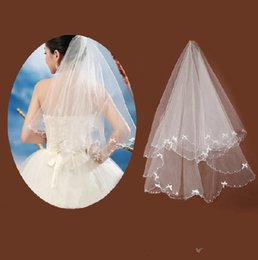 Wholesale Cheap White Ivory Bridal Veil Elbow Length For Bride s Wedding Hair Accessories Bow Adorned