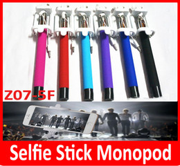 Wholesale z07 F mini monopod Newest Folding Selfie Stick Monopod With Audio Cable Wired Well Fashion Equipment For Taking Photoes