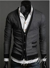 Wholesale the new fake pocket zipper cloth man imported abb cardigan sweater coat