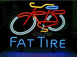 "Fat Tire Bike Logo Neon Sign Commercial Custom Motorbike Store Bar Pub Store Game Display Busines Sale Sign 17""X14"""