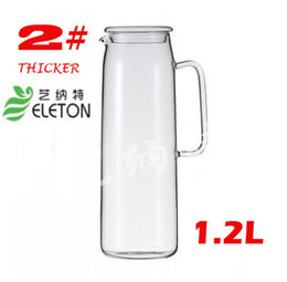 Wholesale high borosilcate glass pot cool water pot water kettle with handle with lid Eleton L L
