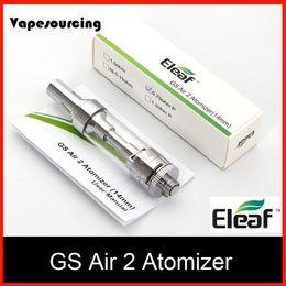 Wholesale Eleaf ismoka GS Air Atomizer ML Tank GS Air Dual Coil Atomizer Airflow Adjustable for Eleaf istick Basic Kit Original