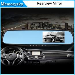 Cámaras de lentes de porcelana en Línea-Caliente del coche DVR Espejo de doble cámara de doble lente Dash registrador de la leva de HD 1080P retrovisor dos cámaras de visión trasera Aparcamiento de vídeo videocámara 010230