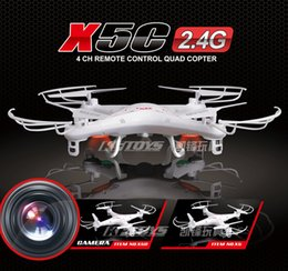 Wholesale-Syma x5c Upgrade Syma x5c-1 2.4G 4CH 6-Axis aerial RC Helicopter Quadcopter Toys Drone With Camera or Syma x5 With camera