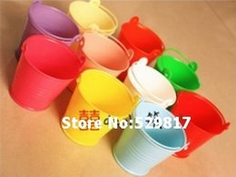 Wholesale wedding favor box Colorful beach pail which made of PP plastic used as candy packing