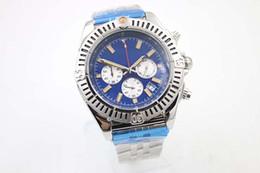 Special Edition Chronometre Quartz Men's Wristwatch Three Zone 48mm Full Stainless Steel Belt Black Face Male Moon Watch Relojoes