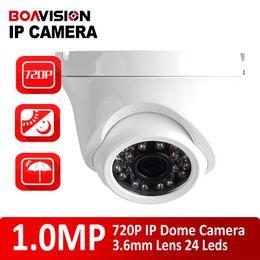 H.264 CMOS de 1/4 720P Mini domo IP Cámara 2.8mm lente fija de 24 Leds con Visión Nocturna 20m IR a prueba de agua / aire libre de Onvif, P2P carcasa de metal desde noche carcasa de la cámara de visión fabricantes