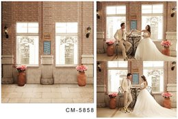 Wholesale 200cm cm ft ft wedding background Antique brick wall vases fotografia photography backdrops cm