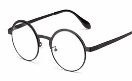 Wholesale New antique retro round eyeglasses metal frame men large vintage round glasses frames women UV black oculos redondo