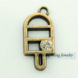 Wholesale 20pcs mm Antique Bronze Zinc Alloy Ice Cream Charm Pendant Fit DIY Metal Jewelry Making