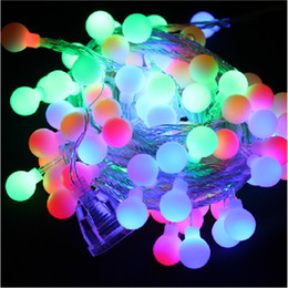 Wholesale Led String Lights Outdoor Use - 10M 100Leds Solar Led String Light Colorful Ball Light Waterproof Christams Fairy Lights For Party Weeding Decoration Outdoor Use