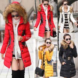 Wholesale New women hooded coats women s autumn winter trench coat fashion long sleeve plaid black red jacket female duffle coat