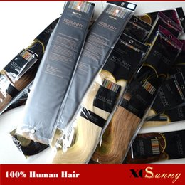 """XCSUNNY 100g 18"""" 20"""" 100% Human Hair Skin Weft Hair Extensions Brazilian Remy Straight Tape In Human Hair Extensions"""