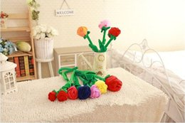 Wholesale New Brinquedos Best Sale Valentine s day Lover s gift Plush toy Plants DIY flowers wedding for girls Curtain buckle