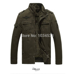 Wholesale Fall Airborne Division Fur Cashmere Jacket Colors German Air Force Pilot Style Coat Army Warm Bomber Jackets
