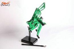 Wholesale Green KELI FUXING Racing CNC Adjustable Rearsets Rear set footpegs For KAWASAKI ZX R ZX10R M53636