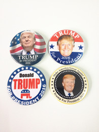 Wholesale Set Of DONALD TRUMP FOR PRESIDENT MAKE AMERICA GREAT AGAIN CAMPAI Donald Trump Buttons Pins Badges Republican Election quot Brooches