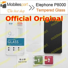 Wholesale-Elephone P8000 Tempered Glass 100% Official Original Screen Protector Film Phone Case for Elephone P8000 in Stock Free Shipping