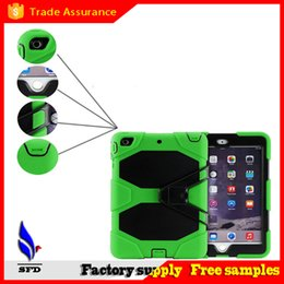 3 in 1 Hybrid Rubber Robot Shockproof waterproof Heavy Duty Cover Case With Stand Holder for ipad air 234 ipad mini 1234