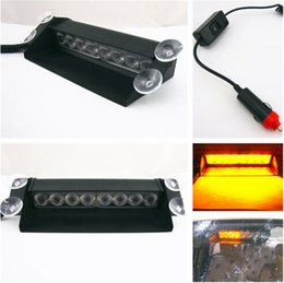 Descuento nave de luz estroboscópica de advertencia 8 LED de luz estroboscópica flash 8W 12V del coche Luz de emergencia Advertencia envío libre de alta potencia de luz