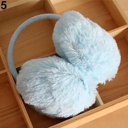 Wholesale-New Arrived Women Men Winter Round Plush Ear Pad Back Wear Warmers Earmuffs Solid Headband 73LZ